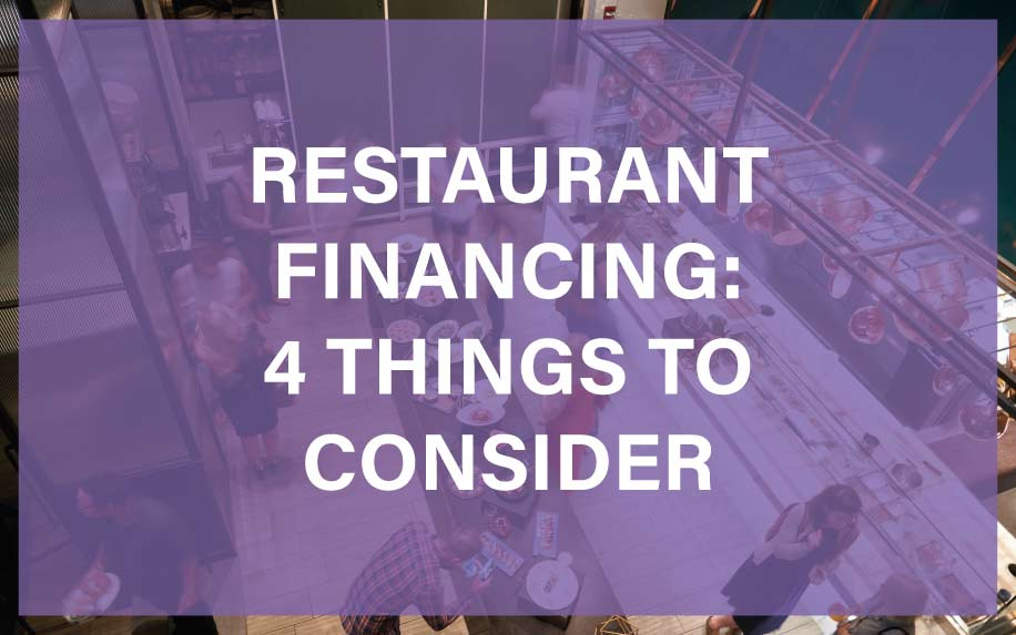 Restaurant financing and loans things to consider graphic